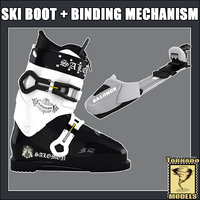 Ski Boot and Ski Binding Mechanism