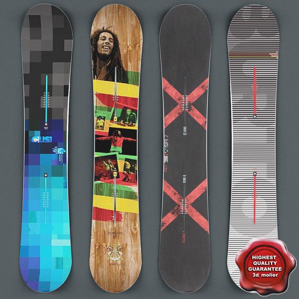 snowboards v2 3d max