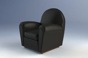 3d model vanity fair armchair poltrona frau