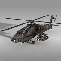 apache attack helicopter 3d c4d