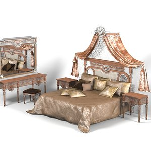 asnaghi classic bed obj