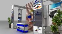 fair stand exhibition 3d 3ds