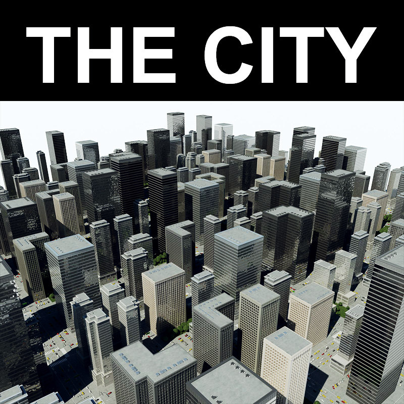 3ds max towers city