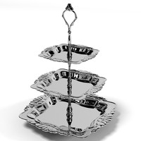 classic luxury dessert 3 tier silver tray table accessories tableware vessel dishes