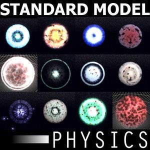 3d particles standard quantum mechanical model