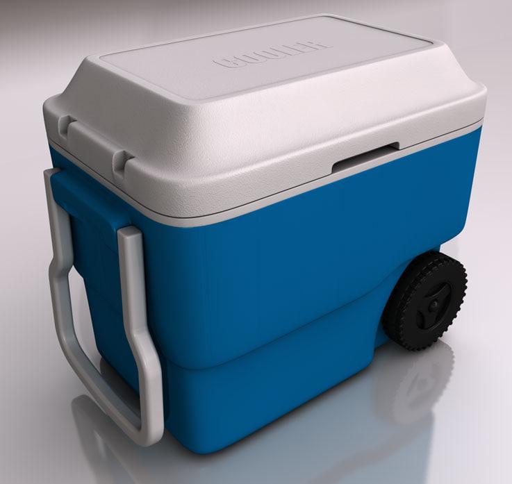cooler box 3d c4d
