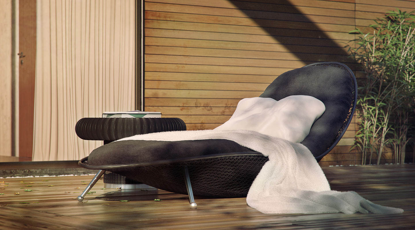 3d daybed outdoor model