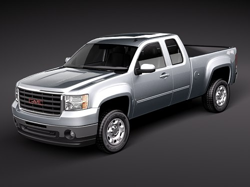 3d model gmc sierra 2500hd pickup