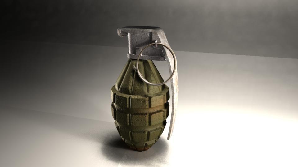 grenade nade 3d obj