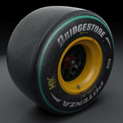 2010 wheels tyres - 3d model