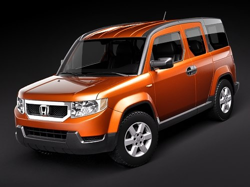 3d model honda element car