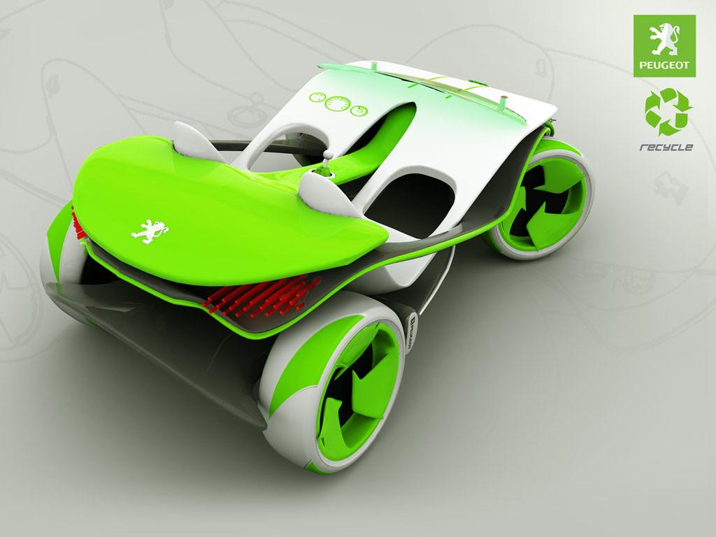 3d max peugeot concept car