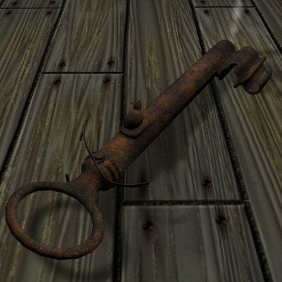 rusted keygun key gun 3d 3ds