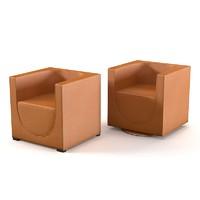 3d model mascheroni faro armchair