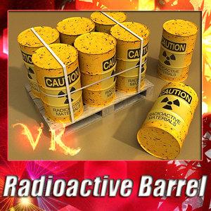 3d radioactive barrel pallet resolution