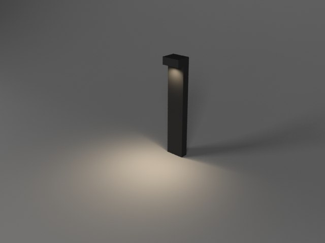 sidewalk led lighting 3d model