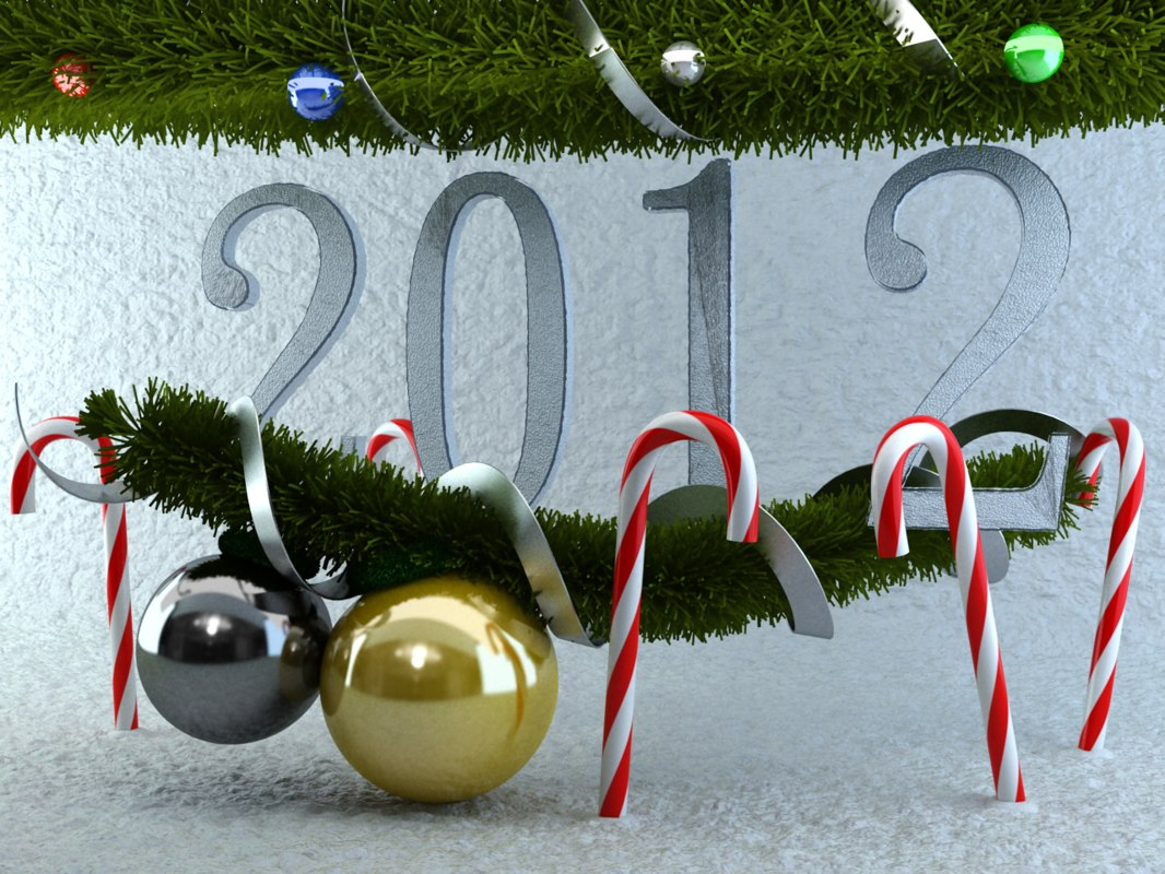 3d max new year