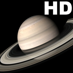 saturn incredible hd planets 3d model