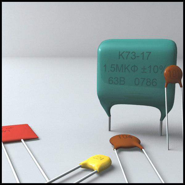 ceramic capacitors 3d model
