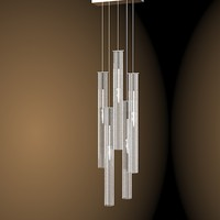 solzi luce modern pendant crystal lamp glass chandelier  suspension