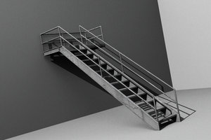 3ds max metal stair