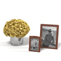 table accessories  picture frame flowers rose bucket bouquet