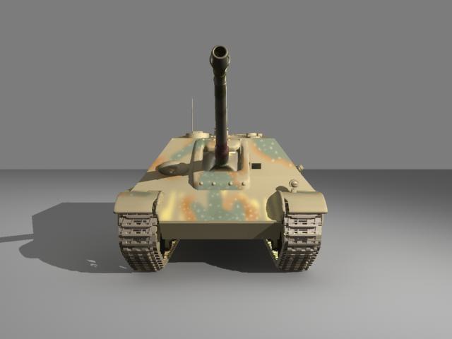 3dsmax destroyer tank
