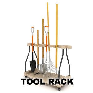 fbx garden tool rack