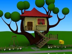 3d model treehouse