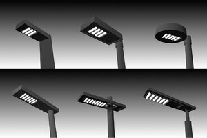 led street lighting pole 3d model