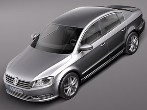 3d model volkswagen passat sedan 2011