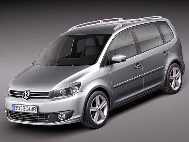 volkswagen touran 2011 van 3d model