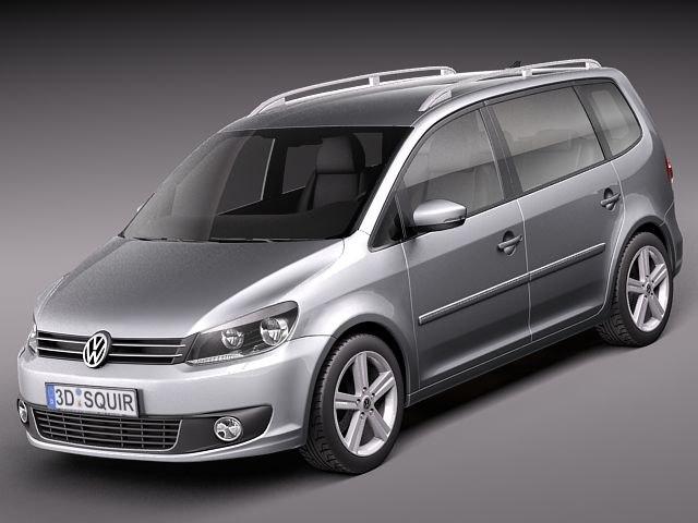 volkswagen touran 2011 van 3d model. Black Bedroom Furniture Sets. Home Design Ideas