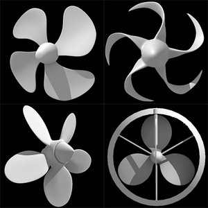 4 propellers 3d model