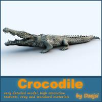 crocodile 3d max