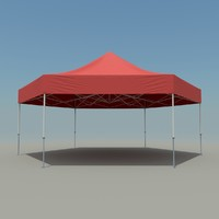 3d model of workshop tent