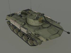 3d model bmd-2 soviet vehicle