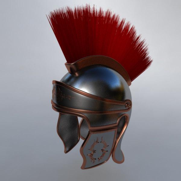 3d roman helmet model
