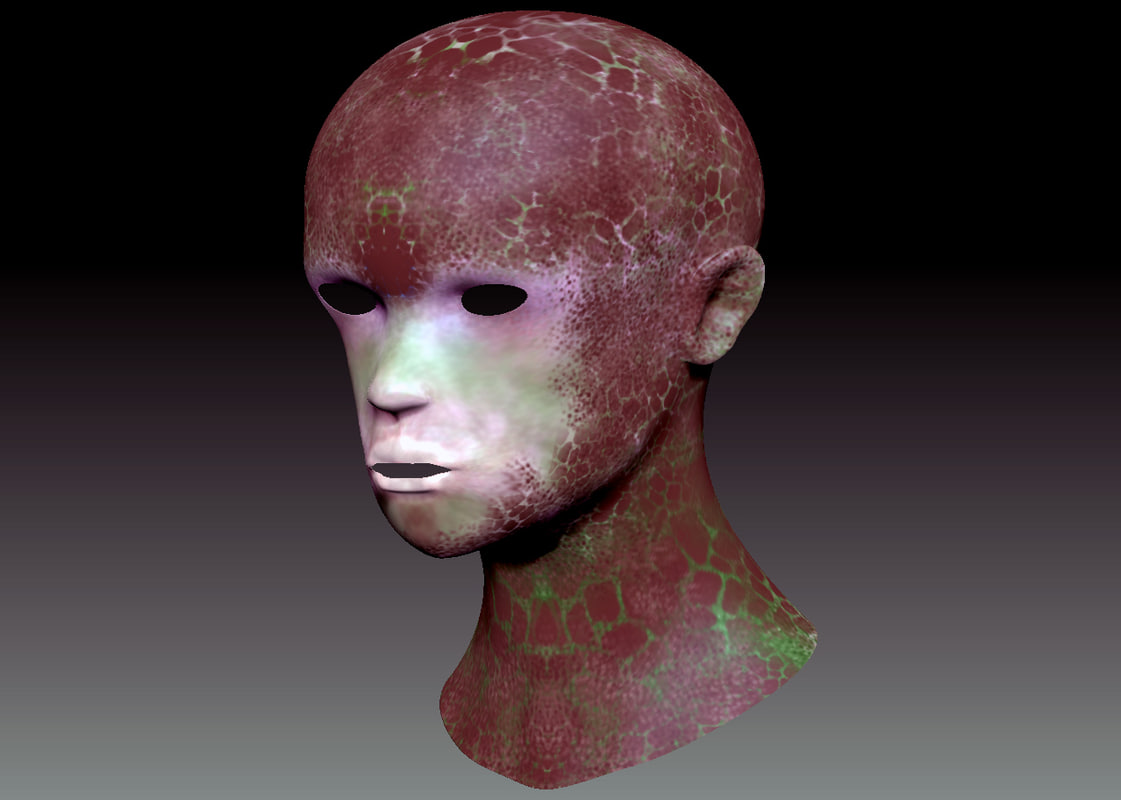 3d model base mesh alien boy