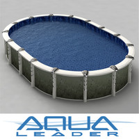 ground oval pool aqualeader 3d max