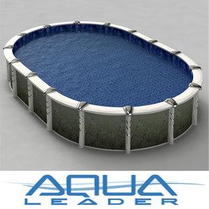ground oval pool aqualeader 3d max