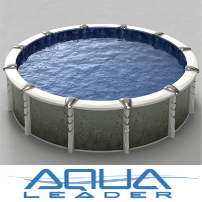 ground pool 18inch creation 3d model