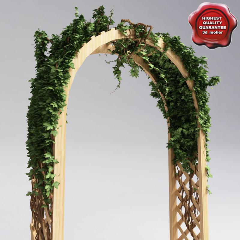 3d arbor ivy model