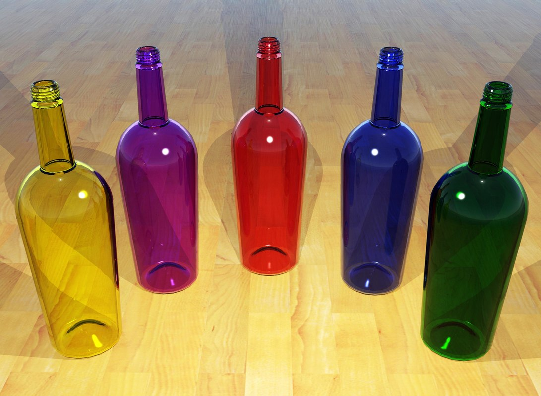 clear glass bottle 3d max
