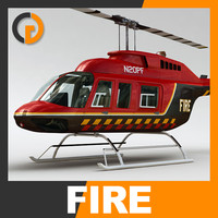 Helicopter - Fire Bell 206L with Interior