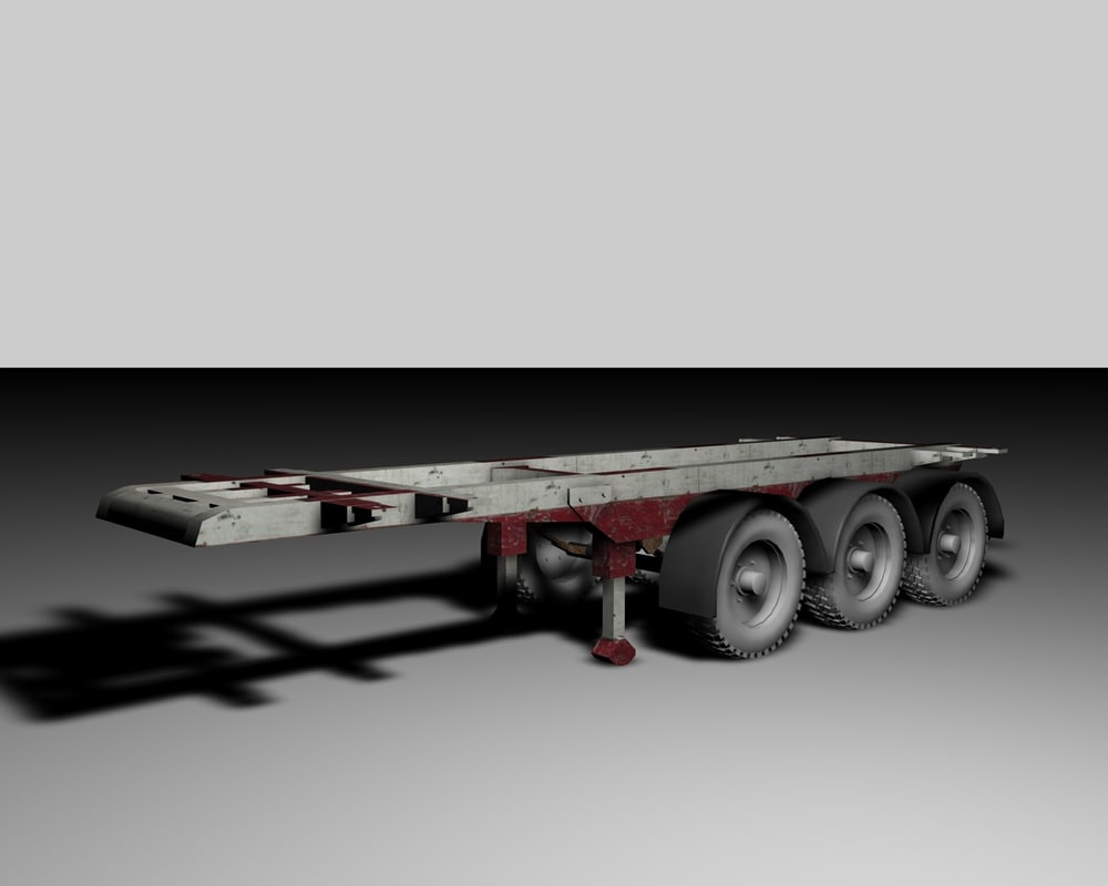 cinema4d trailer semi-trailer container