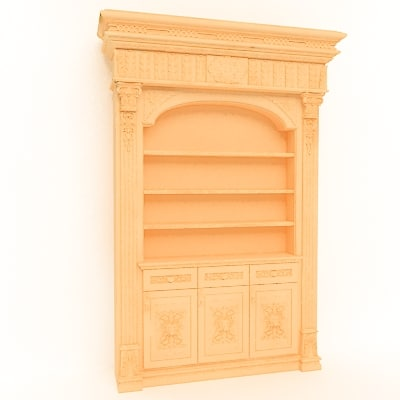 cinema4d bookcase classical decoration