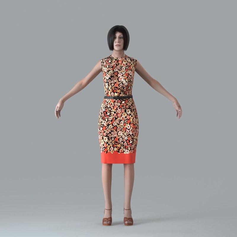 3d model of character human