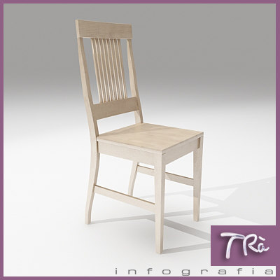 3dsmax kitchen room chair wood