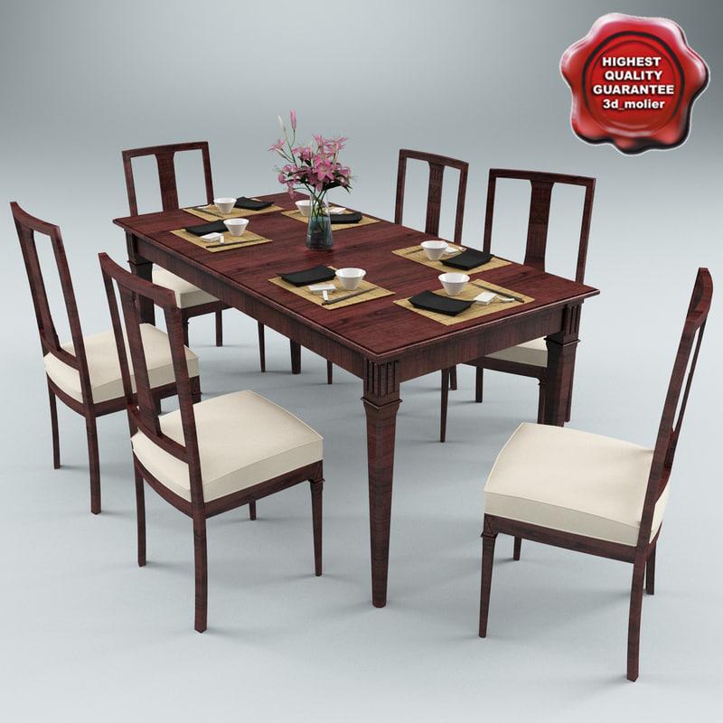 dinner table v4 3d 3ds